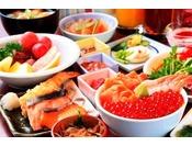 いくら・甘海老・サーモン・いか等の海の幸を盛り放題の海鮮丼が一番人気です。