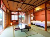 【客室】露天付和洋室~ツイン客室