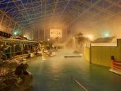 硫黄谷庭園大浴場