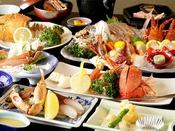 【夕食】エビカニ祭りプラン 季節の一例