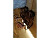 ◆朝食 お子様用椅子