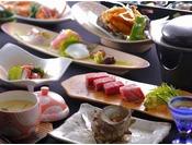 丹後の新鮮な海の幸に絶品京都丹波牛のステーキ付(地魚は季節におまかせ)