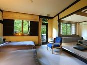*【ファミリーグループ向きルーム一例】広々と空間をご利用していただける和洋室タイプとなります。