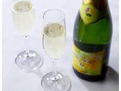 [朝食ブッフェ]にて 優雅に朝からスパークリングワインを