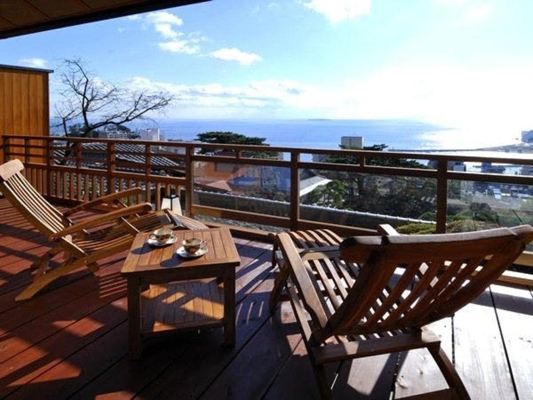 【DX和洋室一例】熱海の景色を見ながらゆっくりお過ごし下さい。