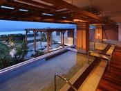 温泉大浴場「海の回廊」。鴨川温泉を存分にお楽しみください。