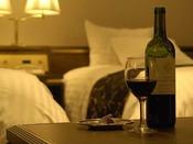 高層階プレミアムルームのデュベスタイルのベッドを装備 安らかな眠りをどうぞ