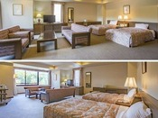 スーペリアツイン(1洋室 1~3名・56平米)カップルやご夫婦に快適な、一般的な客室でありながら、56平米の広さを持つ。インターネット完備、広々とした室内、独立したトイレット、そしてまるで我が家のようなゆったりしたバスルーム。