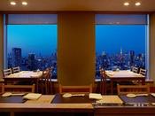 メインタワー38F「味街道 五十三次」店内からの夜景(イメージ)