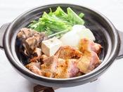 【夕食】地鶏鍋/一例