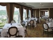 17F スカイレストラン ピトレスク/店内に定温・定湿ワインセラーのあるフレンチレストラン。落ち着いた雰囲気の店内から、京の街や東山が望めます。四季の素材を生かした現代フランス料理を心ゆくまでお楽しみください。