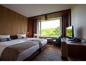 ベッドが2台隙間なく並んだハリウッドタイプのお部屋です。