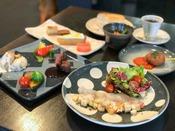 *【創作フレンチ・スタンダードコース・全体一例】お魚orお肉?メイン料理が選べる♪創作フレンチ