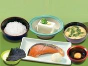 焼鮭定食 ※焼鮭定食にドリンクは付きません。