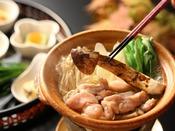 【松茸味わいコース】松茸入り地鶏鍋
