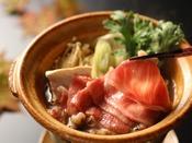 【秋限定】1日6組限定◆炭火で味わう焼き松茸と【信州牛のすき鍋】