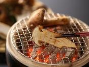 松茸の炭火焼