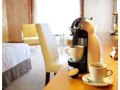 10階以上のお部屋にはコーヒーマシーン(ドルチェグスト)のご用意がございます。
