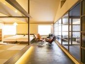 黒御影石の風呂付き和洋室「譲葉」-yuzuriha-(和洋室)<譲葉>