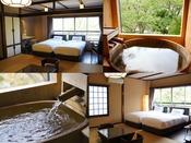 温泉付き和洋室 twin/2タイプございます。お部屋のお風呂でも天然温泉100%をご堪能ください。