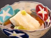 【夏の匠膳】温物:鱸養老蒸し 鼈甲餡
