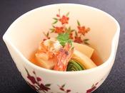 【春の匠膳】温物:車海老と若竹 高野豆腐 粉山椒
