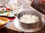 【ご朝食】雅膳のご朝食 -フワァ~とお米の香りが鼻腔をくすぐります。-
