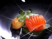 【夏の匠膳】小附:黒部のさくら鱒酢〆 辛子酢味噌 防風