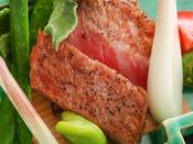 【通年】焼物:氷見牛炙り -延楽ではA4ランク以上のクオリティの氷見牛を取り扱っておます。-