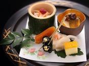 【冬の雅膳】前菜:冬の前菜