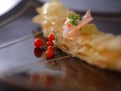 【白えび膳】揚物:白えびミルフューユ