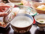 【ご朝食】匠膳のご朝食 -延楽特製のおかゆで朝のスタート-