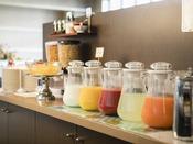 <朝食バイキング>フレッシュなジュース各種