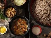 【シーズンバイキング1例】名物、地物茸と信州蕎麦、季節の鍋物 ケンチン汁