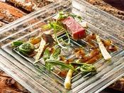【コンチネンタルレストラン ラ・ベリエール】フレンチをベースに、地物と旬の食材の創作フレンチをご用意