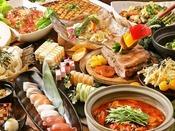 【夕食ブッフェ】前菜からデザートまでお好きな料理が食べ放題!