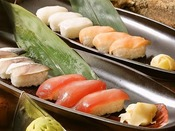【シーズンバイキング1例】季節の握り寿司