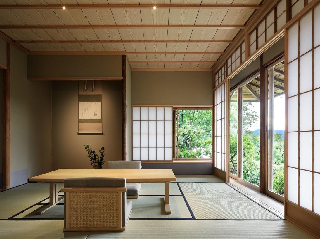 数寄屋風別館「佳水園」天然温泉風呂付(2シングルベッド 100平米)※画像は一例です