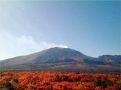 【ホテル・パノラマテラスからの景観】色鮮やかな紅葉に染まる浅間山