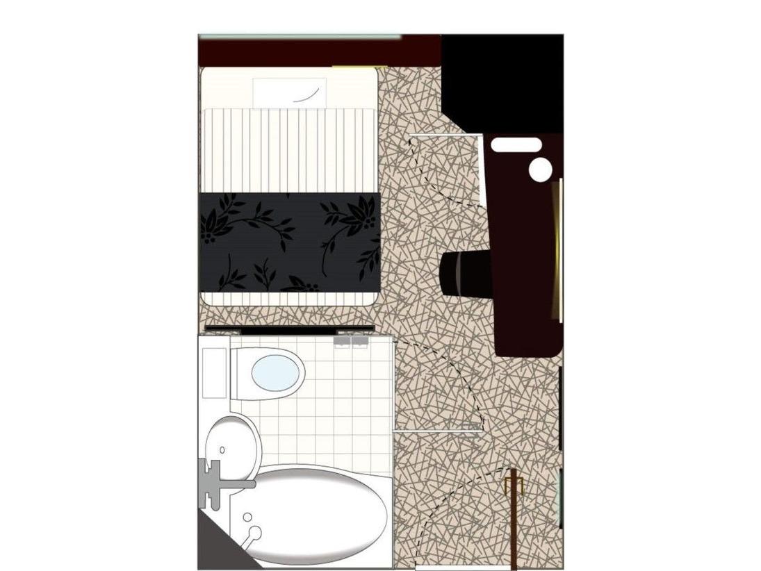 スタンダードルーム/広さ11平米/ベッド幅140cm(ベッド1台)