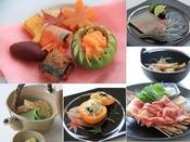 最上級佐賀牛や地魚などを使い、毎月月替わりで提供する、懐石料理ハーフコースです。