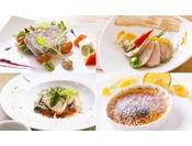 11:30からご案内しますブランチは、メインを肉料理か魚料理かをお好みでお選び下さい。