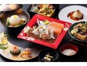 写真は一例です。旬菜旬魚の懐石料理コース