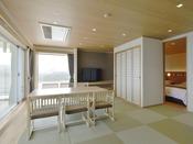 露天風呂付き客室(コーナースイート)