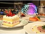 クリスマスケーキが付いたインルーム特製ディナー~With Best Wishes~