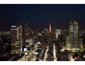 ガーデンタワーから望む東京タワー方面夜景