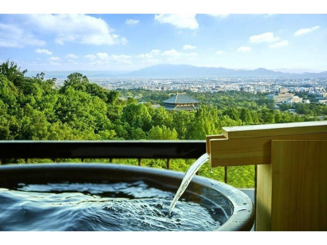 奈良市街を見渡す露天風呂は当館おススメ