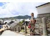 歴史情緒あふれる街を着物で散策してみるのもいいですね。