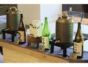 地元産のお酒をご用意。夜に一杯いかかでしょうか。