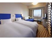 禁煙を確約!!2つのベッドをくっつけてハリウッドタイプに♪カジュアルハリウッドルーム(21平米)